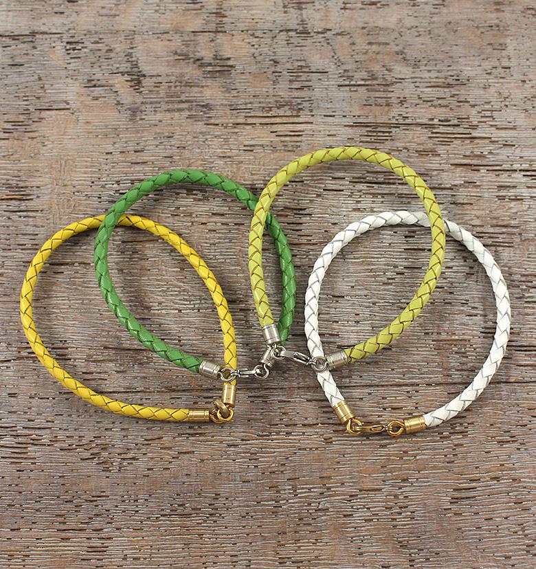 Браслет плетеный 2,5-3,5 мм.
