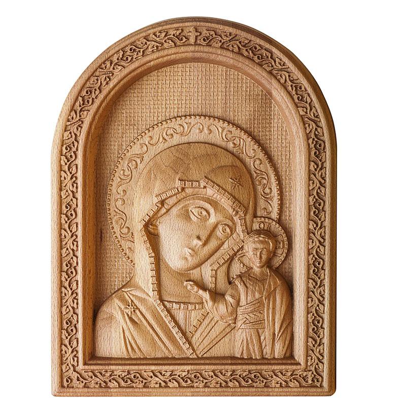 Резная икона из дерева