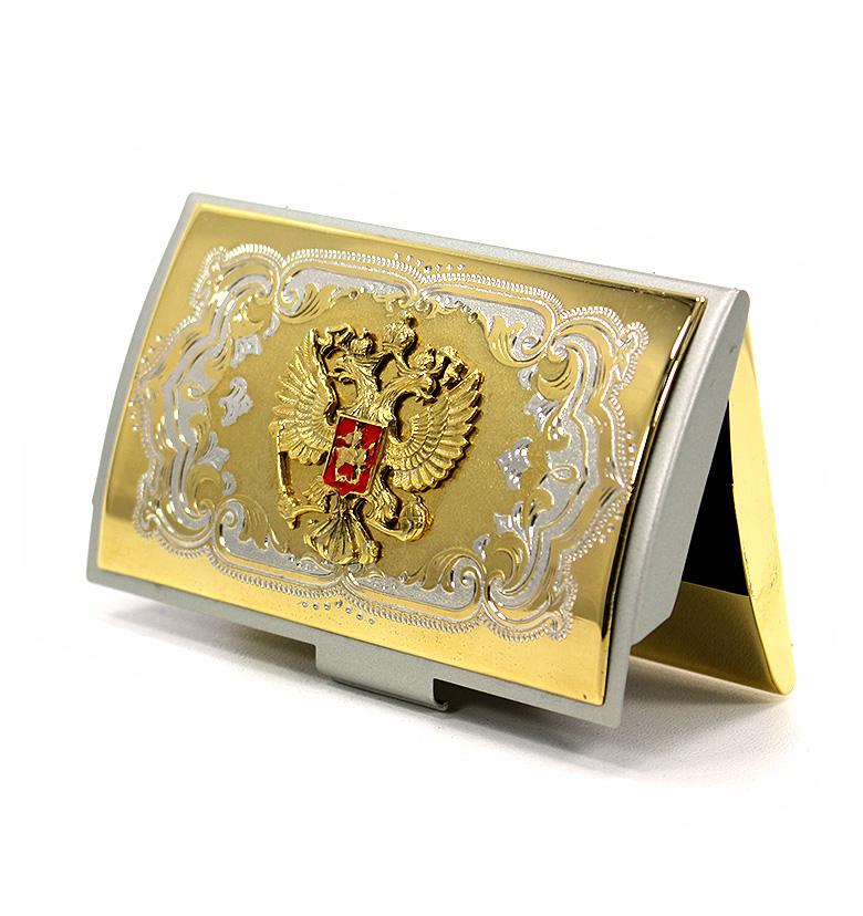 Визитница карманная с Гербом РФ