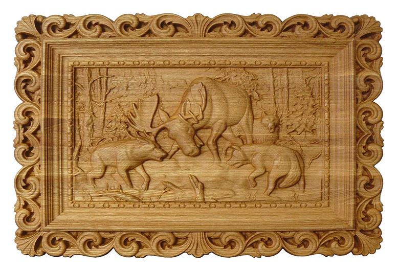 Сувенир из дерева - Декоративное панно