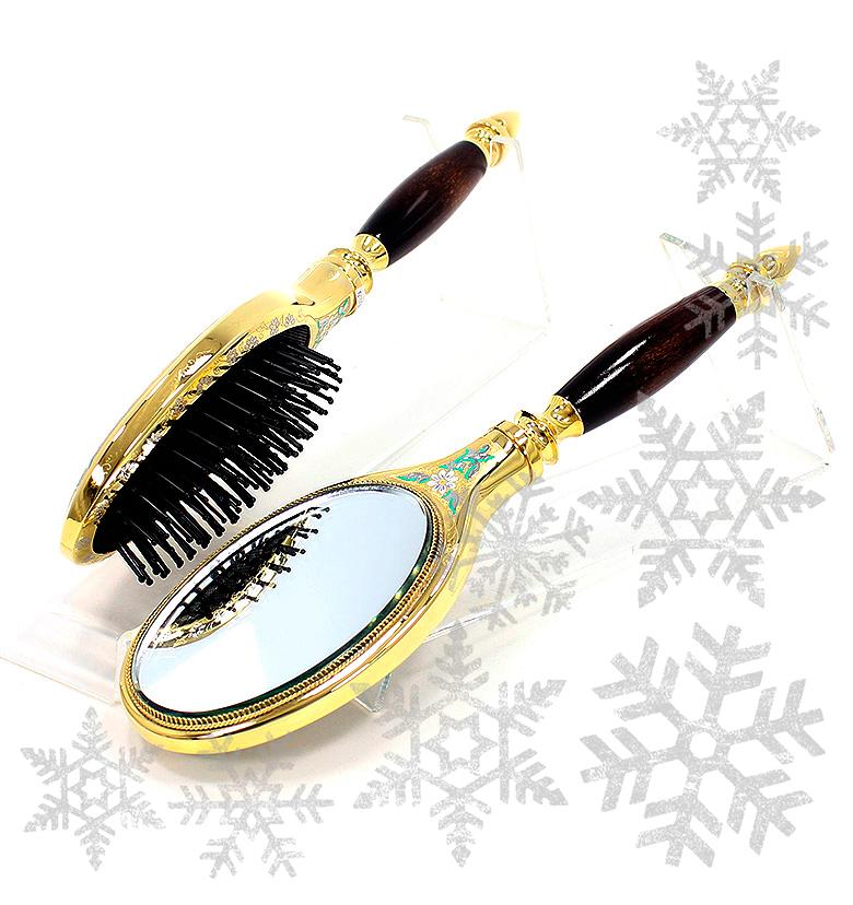 Подарок женщине на новый 2018 год - Расческа с зеркалом